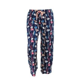 Hello Mello Leisure Time Lounge Pants, Multi-Color Blooms