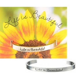 Whitney Howard Designs Life is Beautiful Quotable Cuff