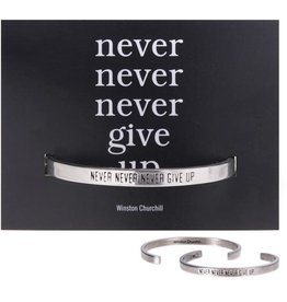 Whitney Howard Designs Never Give Up Quotable Cuff