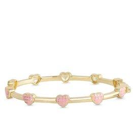 Lily Nily Lattice Heart Bangle Bracelet
