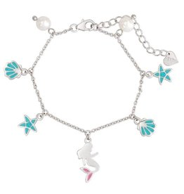 Lily Nily Mermaid and Freshwater Pearl Charm Bracelet