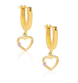 Lily Nily Open Heart Dangle Earrings in 18k Gold over Sterling Silver