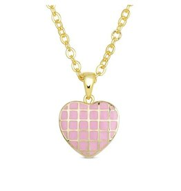 Lily Nily Lattice Heart Pendant, 18k Gold Plated