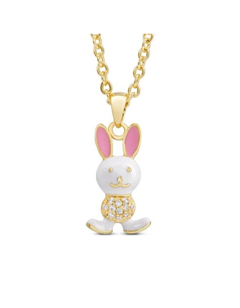 Lily Nily 18k Gold Plated Bunny Rabbit Pendant with CZ