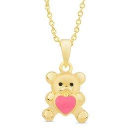 Lily Nily Heart Teddy Bear Pendant