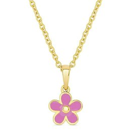 Lily Nily Flower Pendant (Pink)