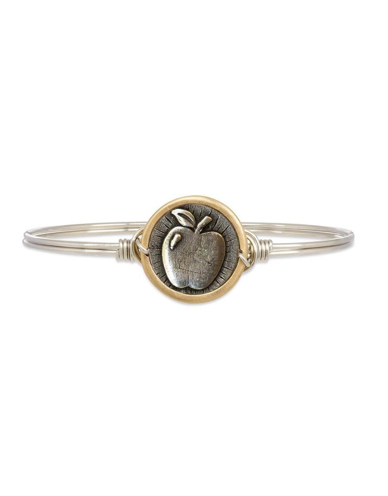 Luca & Danni Teacher Apple Bangle Silver Tone