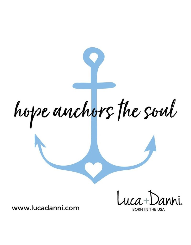 Luca & Danni Anchor with Heart Brass Wire Bracelet