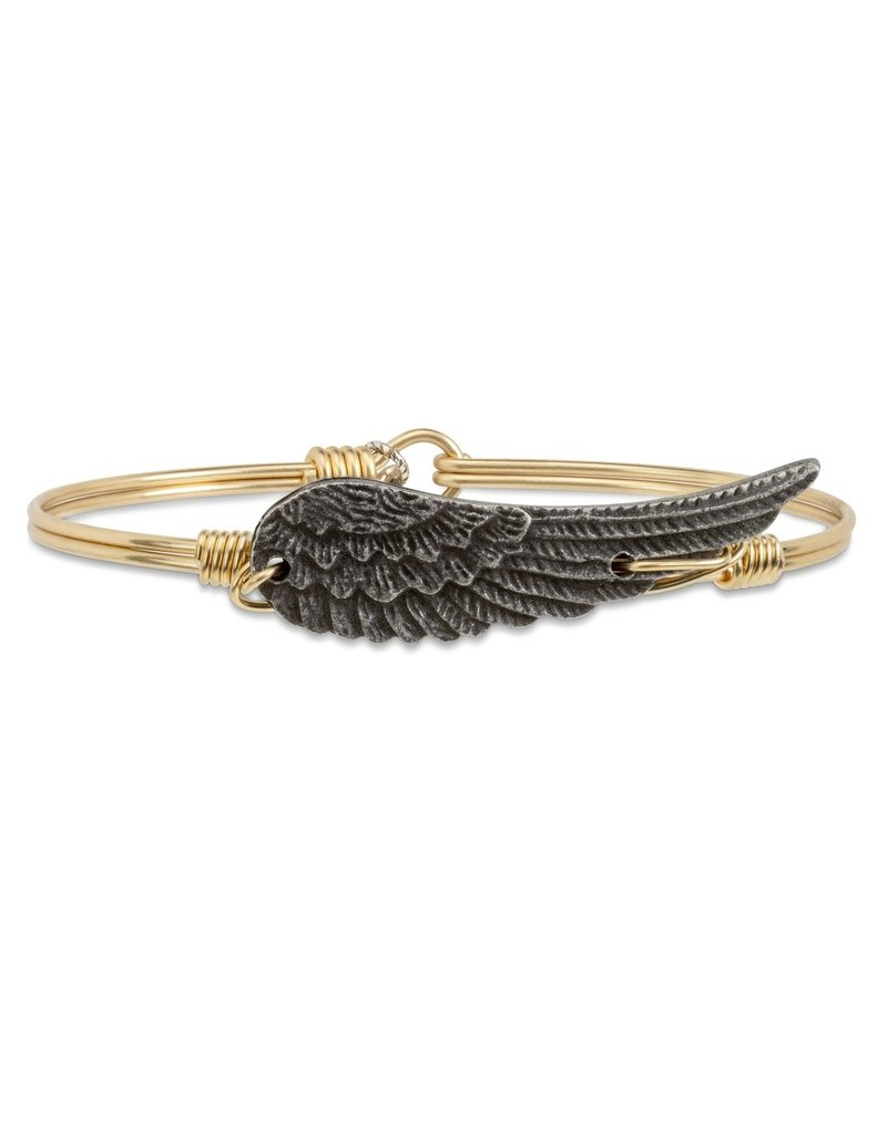 Luca & Danni Angel Wing on Brass Wire Wrapped Bracelet