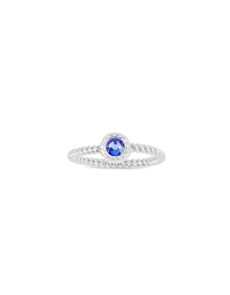 Luca & Danni September Birthstone Ring, Silver