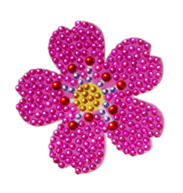 Sticker Beans Pink Flower Emoji