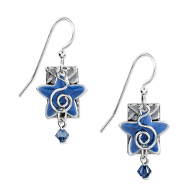 Silver Forest Silver Blue Star with Crystal