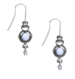 Silver Forest Silver Blue Lace Agate Filigree