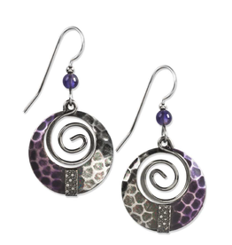 Silver Forest Silver Purple Spiral with Beads