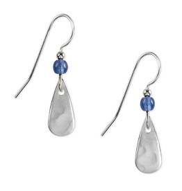 Silver Forest Silver Blue Tear Bead