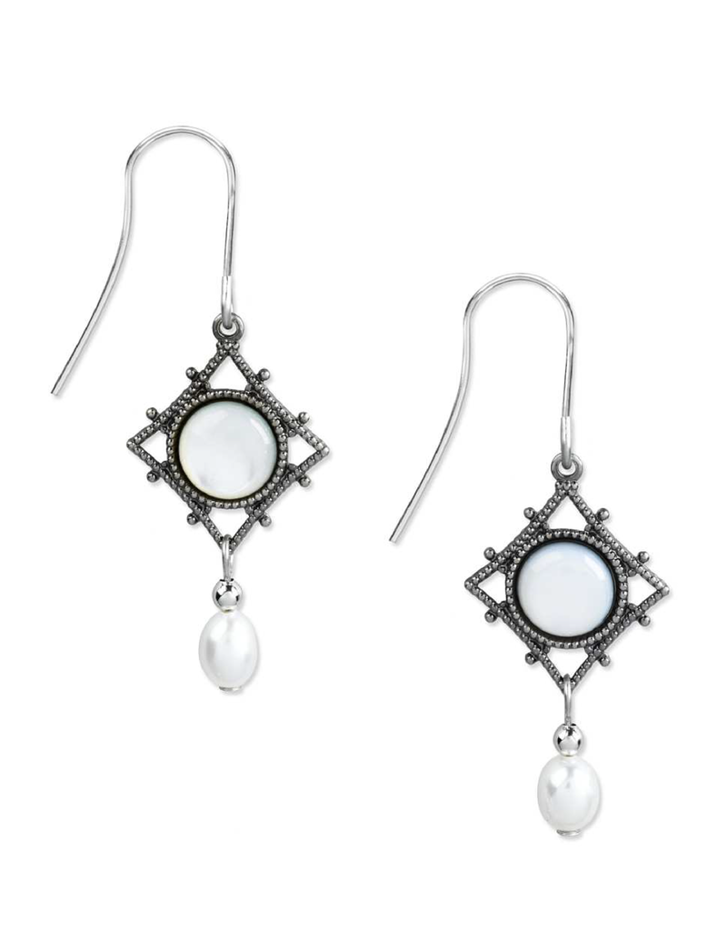 Silver Forest Filigree Diamond/Mother of Pearl