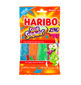 Nassau Candy Haribo, Zing Sour Streamers