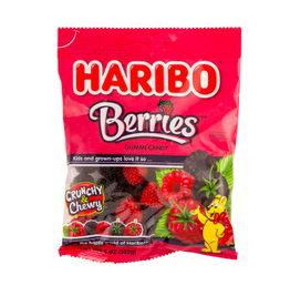 Nassau Candy Haribo Gummy Raspberry