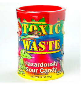 Nassau Candy Toxic Waste, Tye Dye Sour Candy/Bank