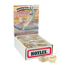 Nassau Candy Hotlix Pop Tequila, Worm