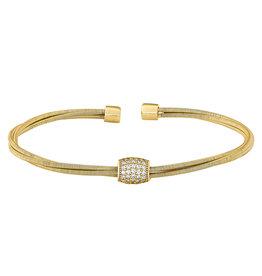 Bella Cavo Gold Multi Cable Bracelet, Simulated Diamond Accent