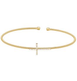Bella Cavo Gold Cable Cross Bracelet