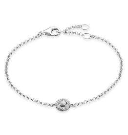 Thomas Sabo Bracelet, Silver w/ Double Circle Pave