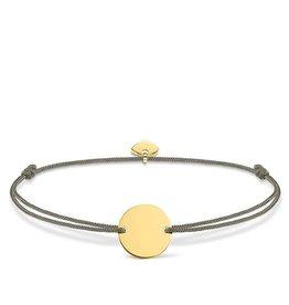 Thomas Sabo Adjustable Bracelet Grey Chord Gold Circle