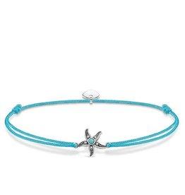 Thomas Sabo Adjustable Bracelet Turquoise Chord Starfish