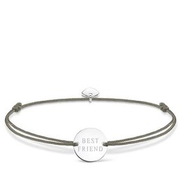 Thomas Sabo Adjustable Bracelet Grey chord best friend circle