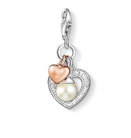 Thomas Sabo Charm Hearts w/ Pearl, CZ, Rose Gold