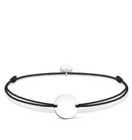 Thomas Sabo Adjustable Bracelet Black Chord Silver Circle
