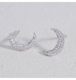 Ella Stein Mini Moons Earring, Sterling Silver