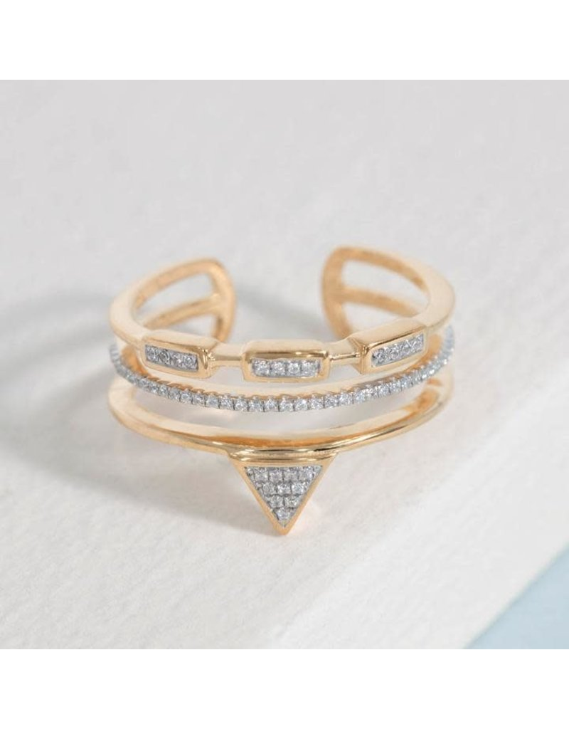 Ella Stein Shaped Crusader Ring, Gold