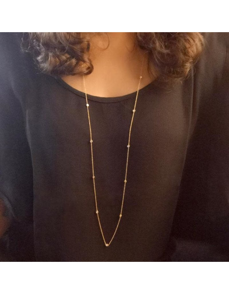 Ella Stein Dot to Dot Necklace, Gold
