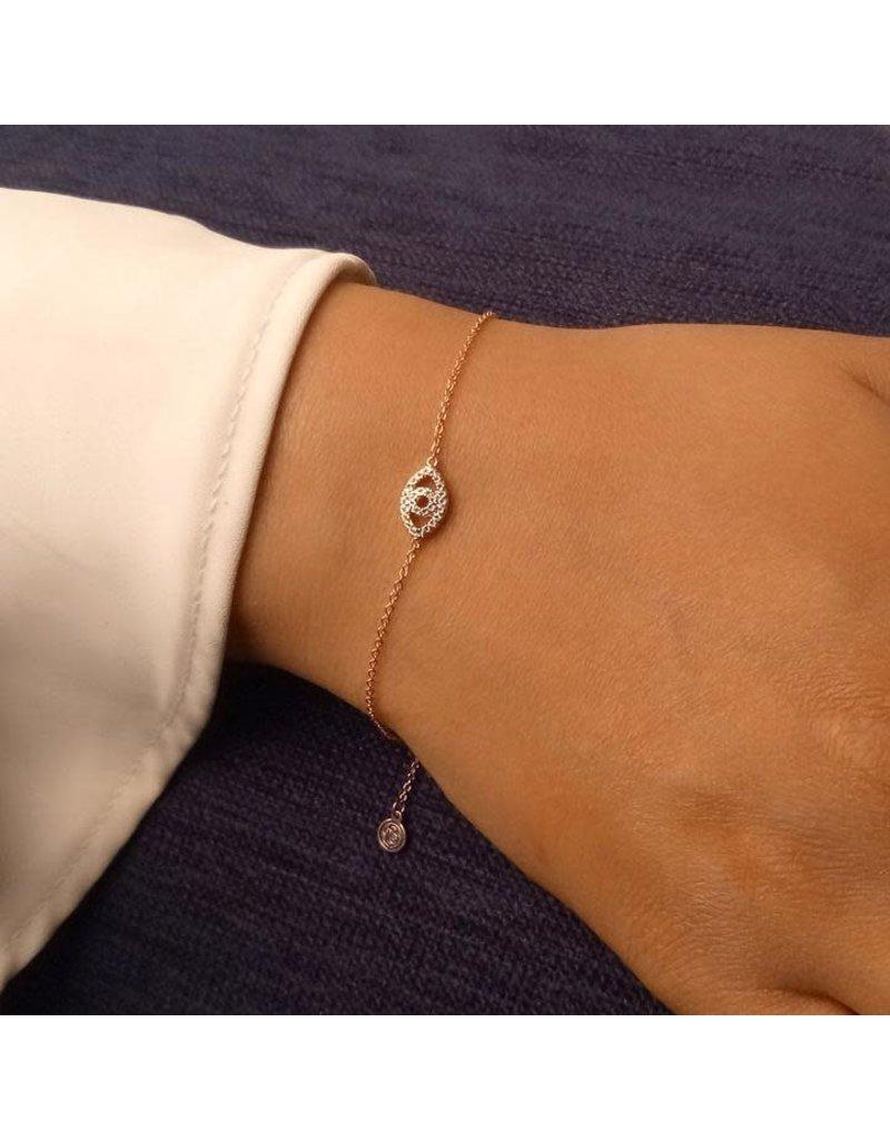 Ella Stein Eye On The Prize Bracelet, Rose Gold