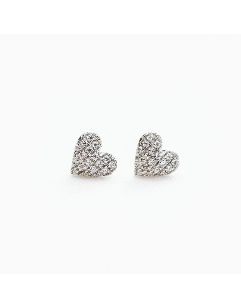 Ella Stein Mini Heart Earring, Sterling Silver
