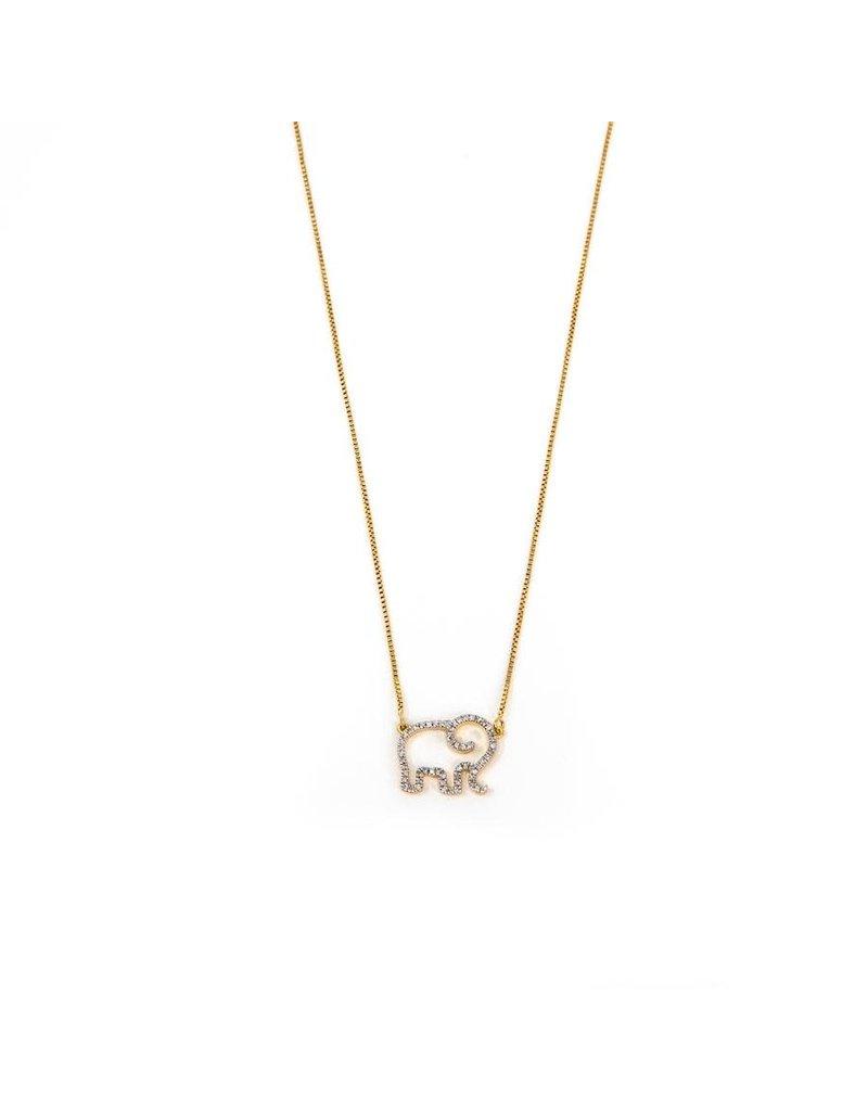 Ella Stein Elephant Mom Necklace, Gold