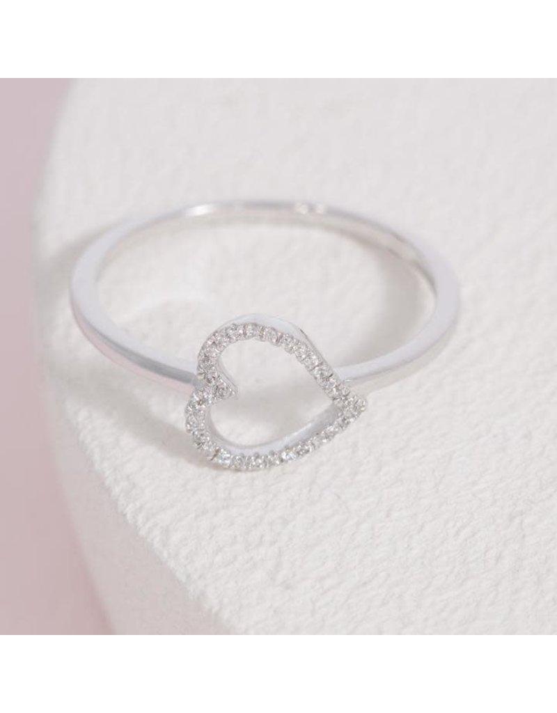Ella Stein Silver Heart Ring