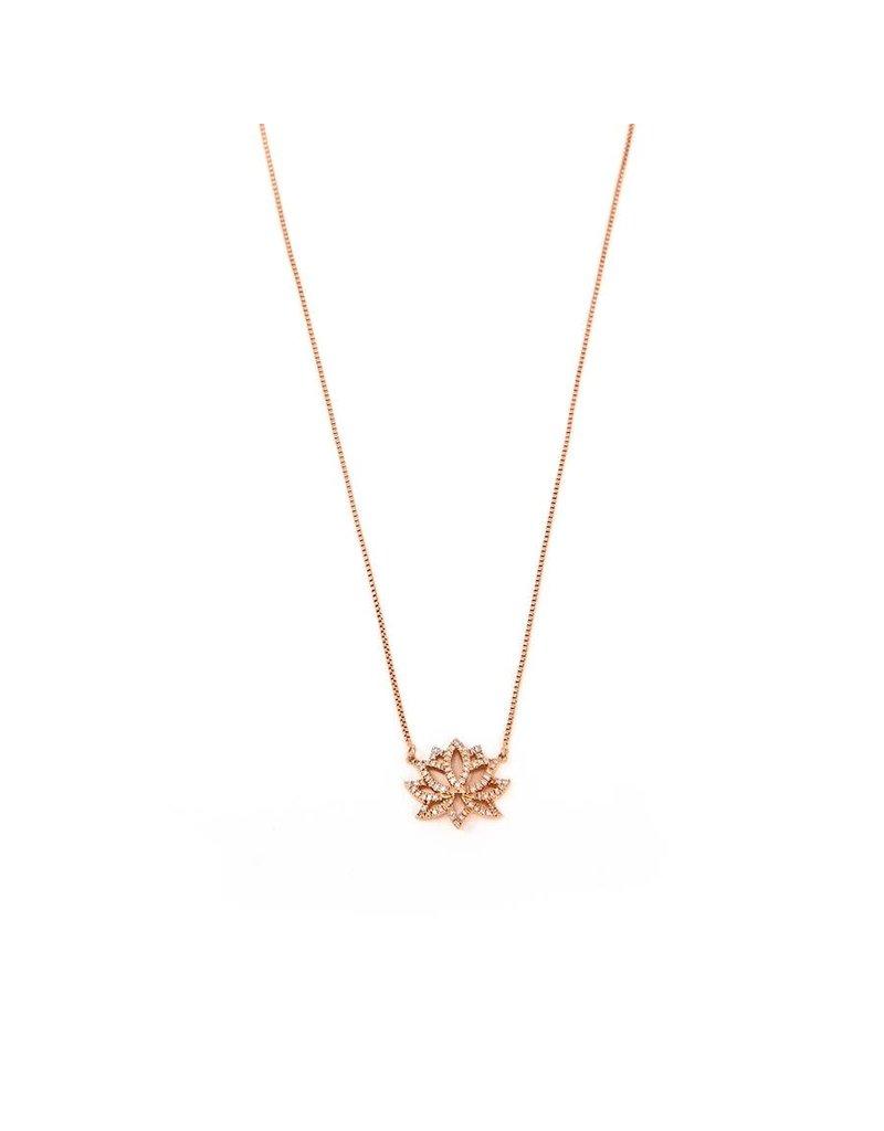 Ella Stein Blooming Lotus Necklace, Rose Gold