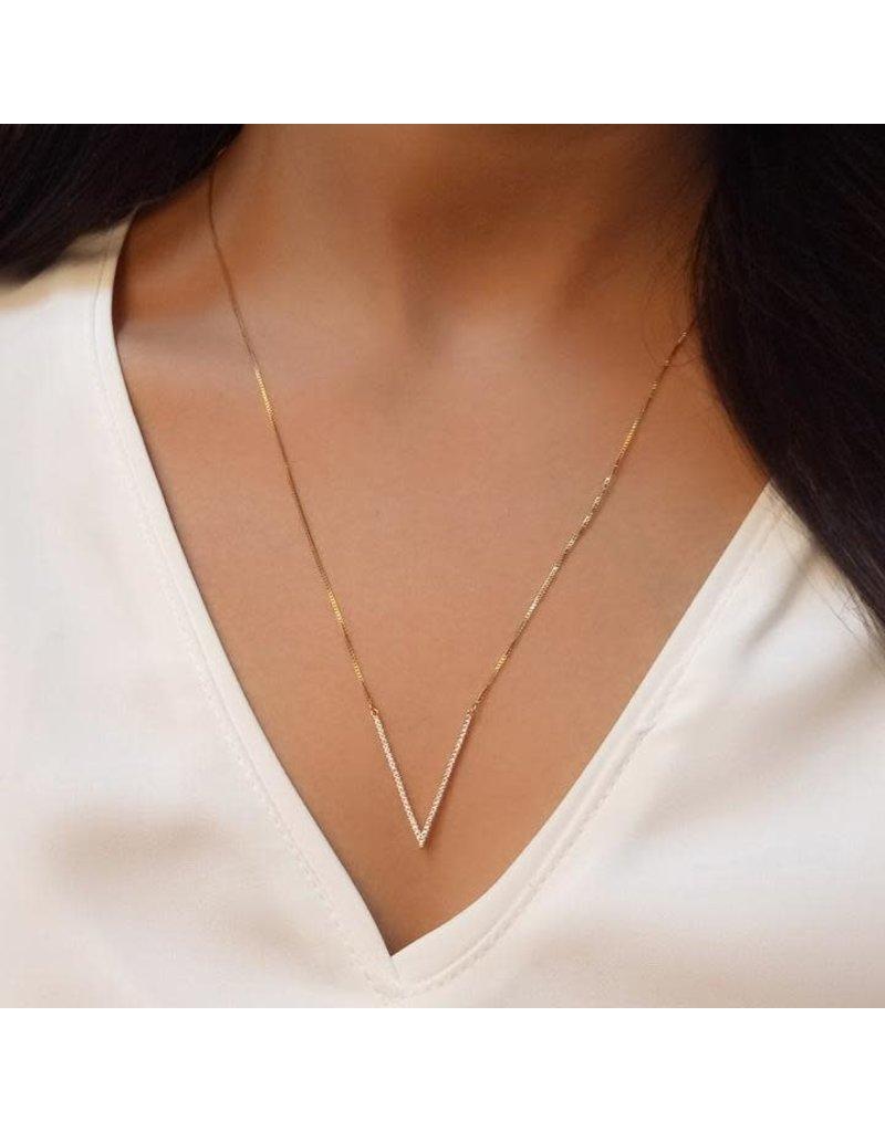 Ella Stein Sterling Silver V Triangle Necklace