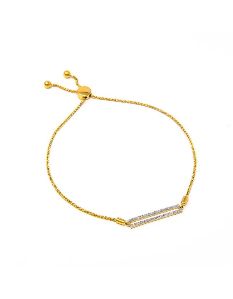 Ella Stein Drawstring Bar Bracelet, Yellow Gold