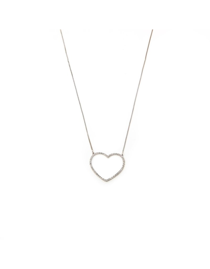 Ella Stein Keep Your Heart Open Necklace, Sterling Silver