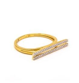 Ella Stein Set The Bar Ring, Gold, 8