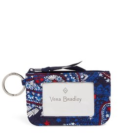Vera Bradley Iconic Zip ID Case Fireworks Paisley