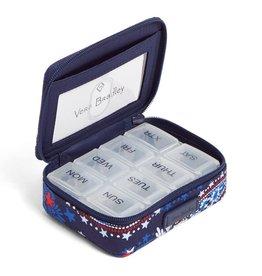 Vera Bradley Iconic Travel Pill Case Fireworks Paisley