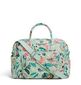 Vera Bradley Iconic Weekender Travel Bag Mint Flowers