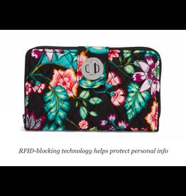 Vera Bradley RFID Turnlock Wallet Vines Floral