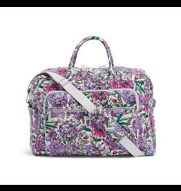 Vera Bradley Iconic Grand Weekender Travel Bag Lavender Meadow