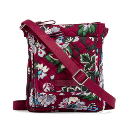 Vera Bradley Iconic RFID Mini Hipster Bordeaux Blooms